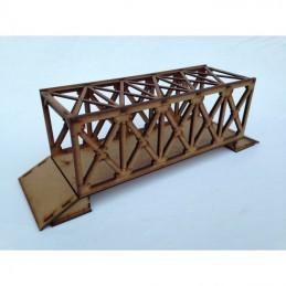 Pont métallique avec poutres en boîte