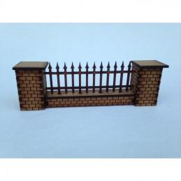 Mur et clôture bout pointu
