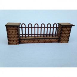 Mur et clôture arrondie