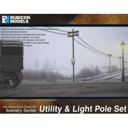 RU-283004 - Poteaux téléphoniques, lampadaires, etc.