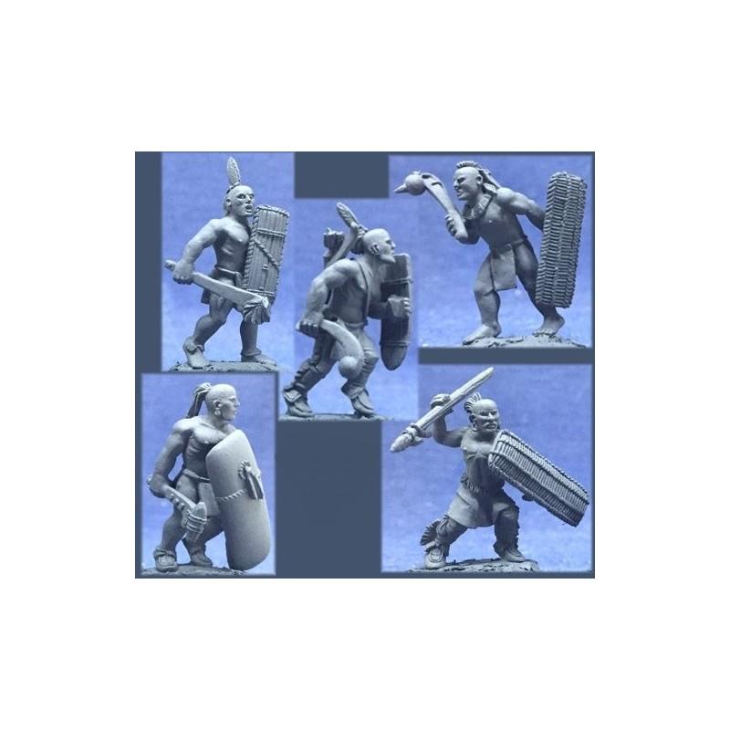 CC-67012 - Guerriers iroquois avec mains ouvertes pour armes séparées