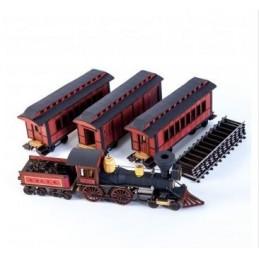 Train de passagers américain XIXe (rouge)