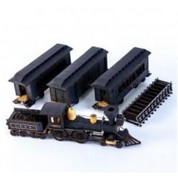 Train de passagers américain XIXe (noir)