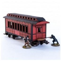 Wagon de passager américain XIXe (rouge)