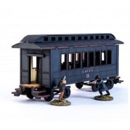 Wagon de passager américain XIXe (noir)
