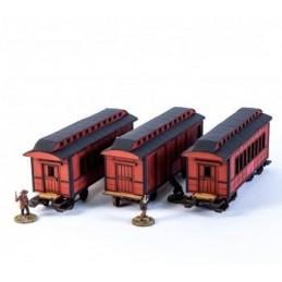 Set Wagons américain XIXe (rouge)