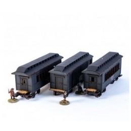 Set Wagons américain XIXe (noir)