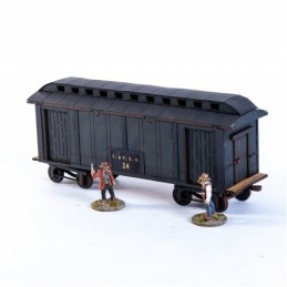 Wagon de bagages américain XIXe (noir)