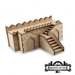 Mur droit avec escalier double de cité NA'SAIN