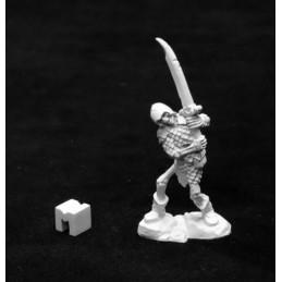 03945 Squelette avec épée à deux mains