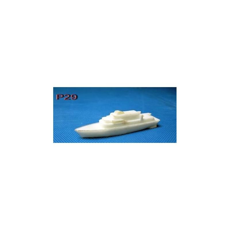 Petit Yacht en résine de 9,5cm x 1,8cm x 2,2cm