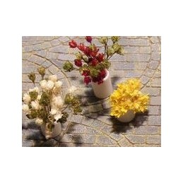 Set de 3 fleurs naturelles pour buissons