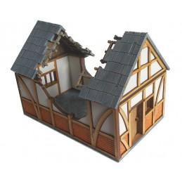 Maison médiévale en ruine