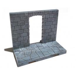 Mur plein avec petite arche