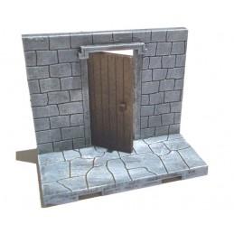 Murs plein avec petite porte