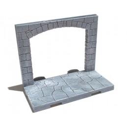 Mur avec grande arche