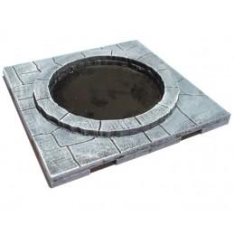 Dalle avec puits de 6 x 6cm
