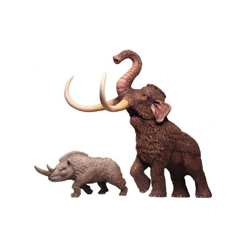 Mammouth et Rhinocéros laineux