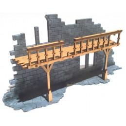 Ruine avec balcon droit