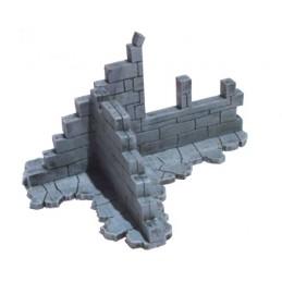 Mur de jonction en ruine