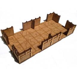 Maison de 18 x 9cm avec sol...
