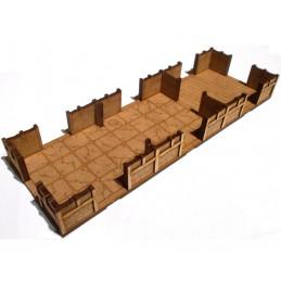 Maison de 27 x 9cm avec sol...