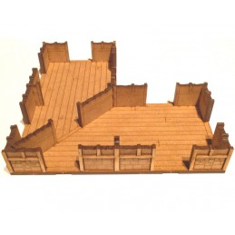 Maison en L de 18 x 18cm (2...