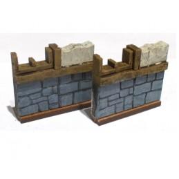 Set de murs avec fenêtres