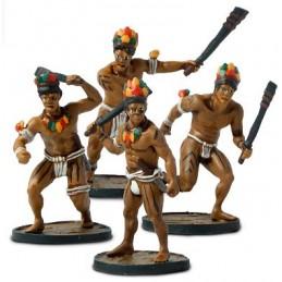 Guerriers natifs avec épées