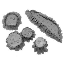 Petits cratères en fusion