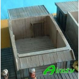 Cabane en bois sans toit