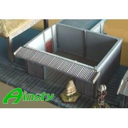 Cabane en tôle sans toit
