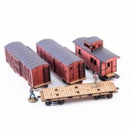 Set de différents wagons de...