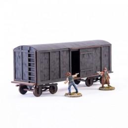 Wagon à marchandises noir XIXe