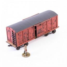 Wagon à marchandises rouge...