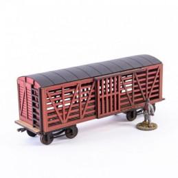 Wagon à bestiaux rouge XIXe