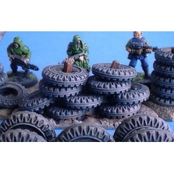 Mur de pneus irrégulier