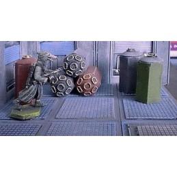 lot de conteneurs hexagonaux