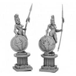 17318 Statues d'amazones