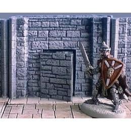 Mur de donjon 6cm avec porte secrète