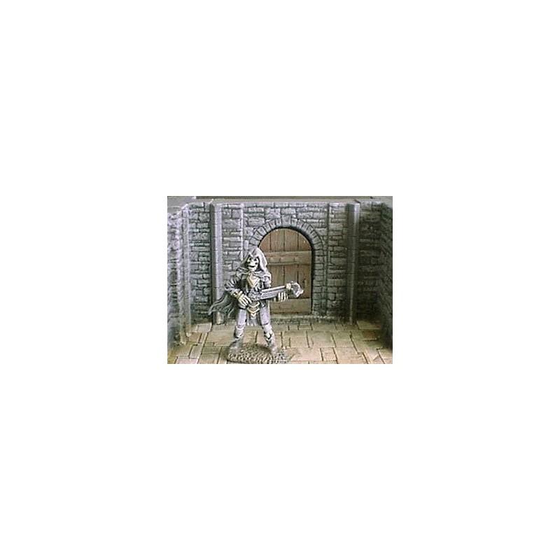 Mur de donjon 6cm avec porte
