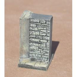 Murs avec demi-pilier 3cm