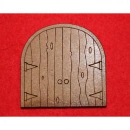 Porte double en arche