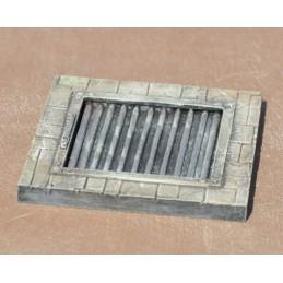 Dalles 6cm x 6cm avec grande grille à gros barreaux