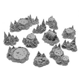 Cratères et stalagmites