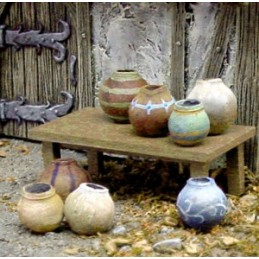 Pots/jarres divers (8)