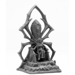 Reine elfe noir sur son trône