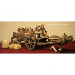 Charette médiévale avec accessoires