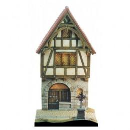 Façade de maison médiévale entrée de village