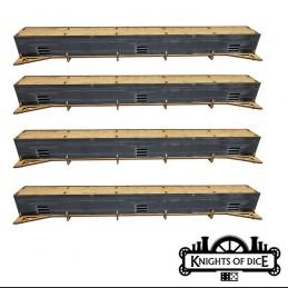 Rails droites pour monorail